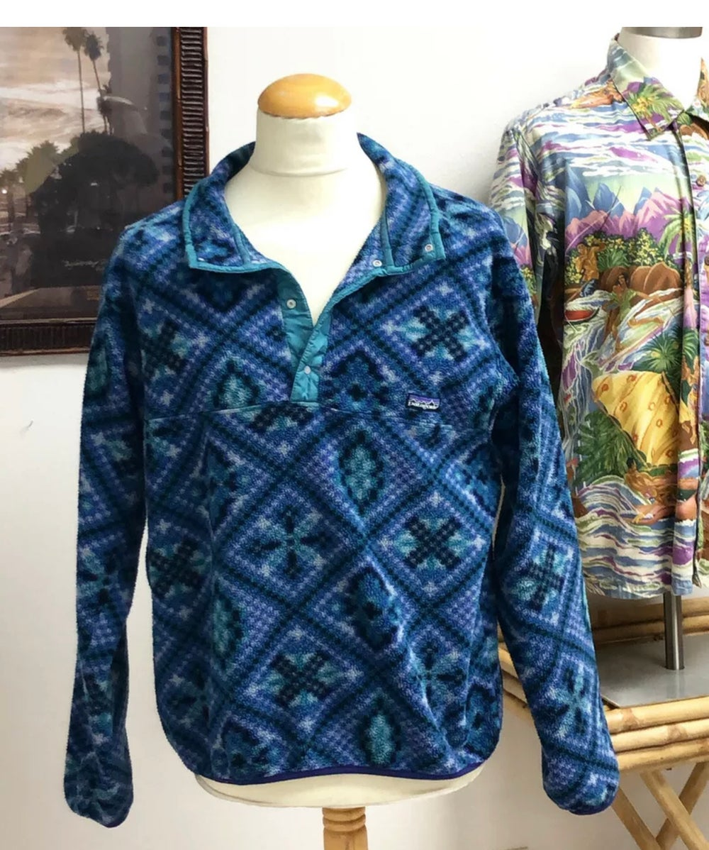 Image of Vintage Patagonia synchilla Snap T made In USA L 90s