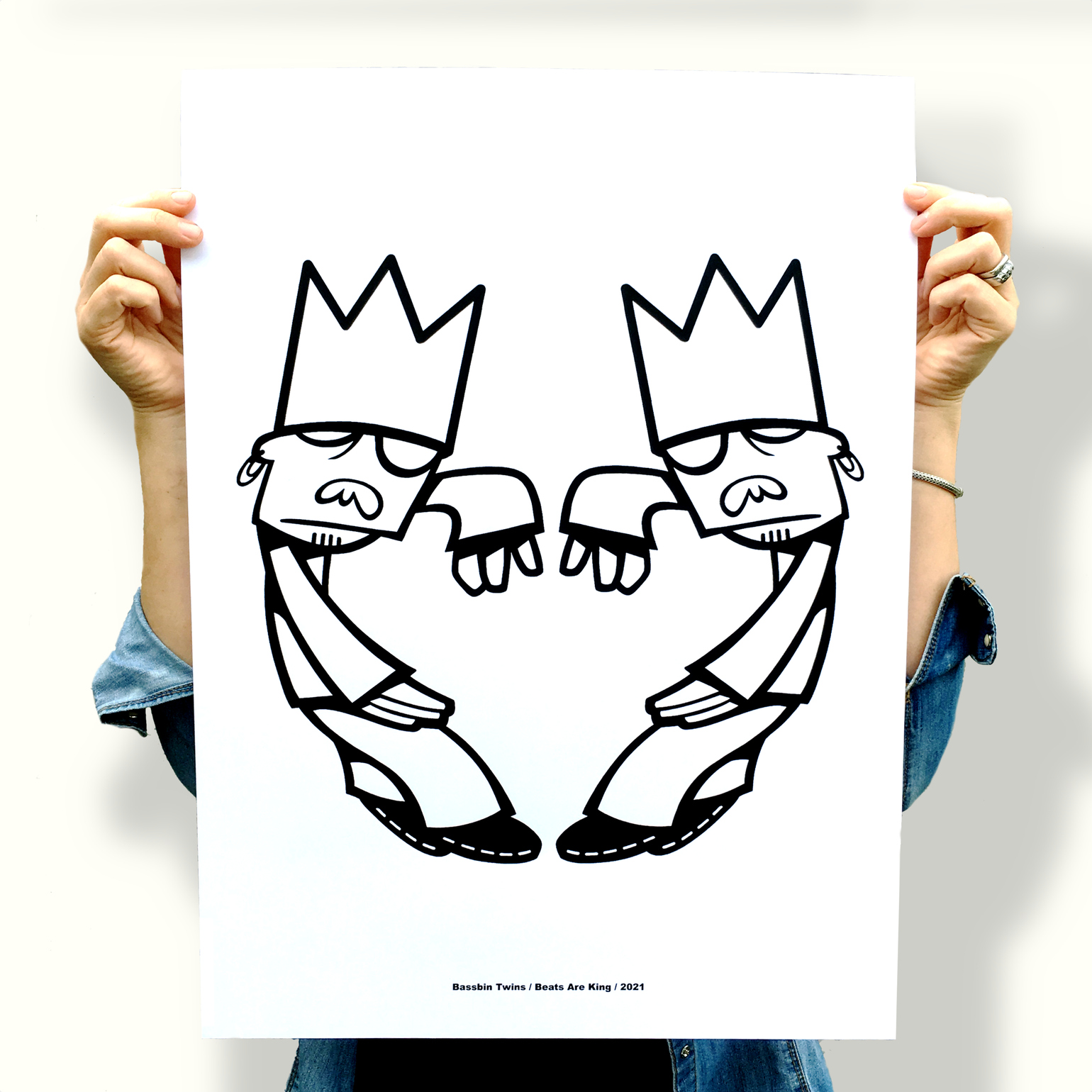 Image of 'BEATS ARE KING' SCREEN PRINT
