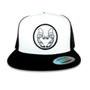 Image of BASSBIN SNAPBACK HAT BLACK & WHITE