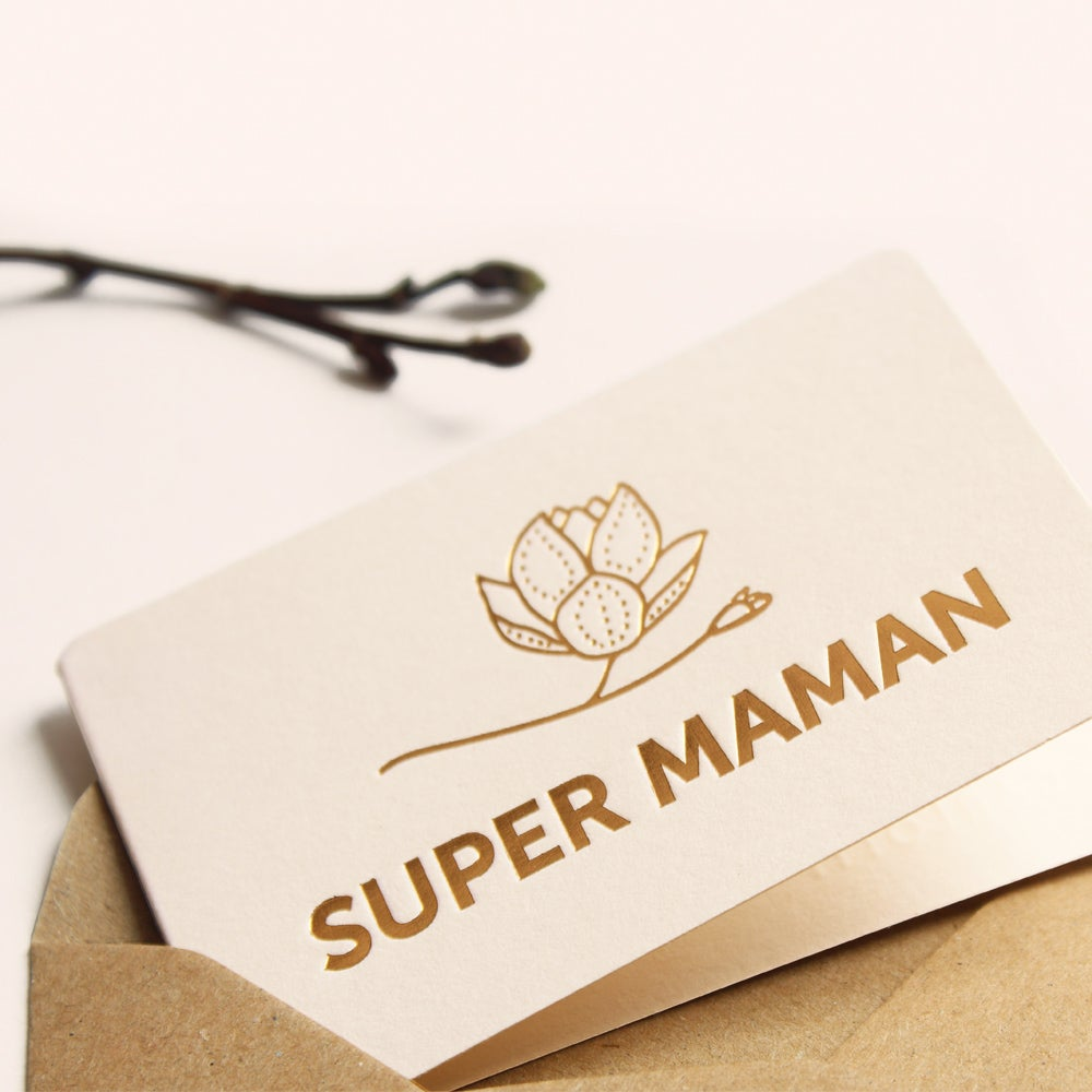 Image of MINI-CARTE SUPER MAMAN MAGNOLIA