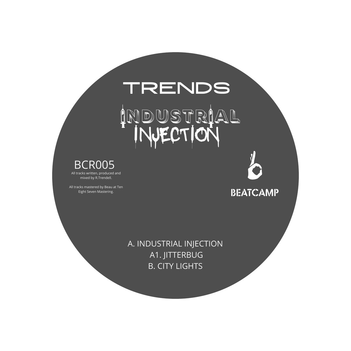 Image of BCR005 TRENDS - INDUSTRIAL INJECTION *PRE ORDER* (1 VINYL PER PERSON)
