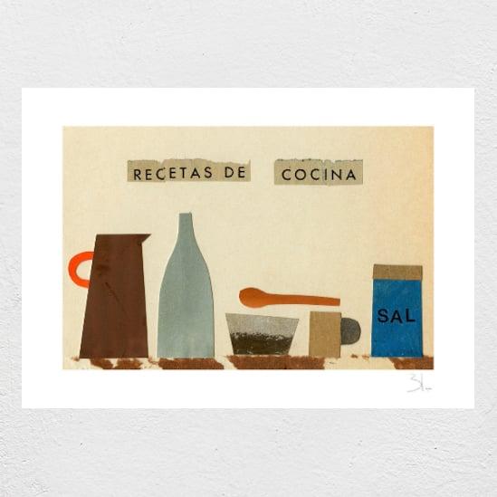 Image of Recetas de Cocina Print