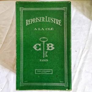Ancienne boite de mercerie en carton Thiriez Cartier Bresson