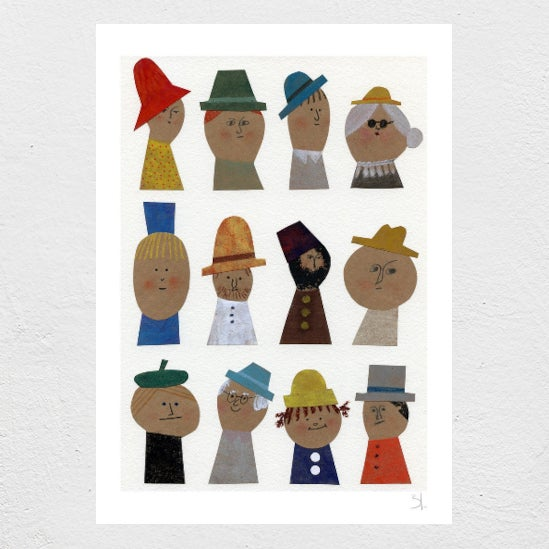 Image of Selected Hats Print