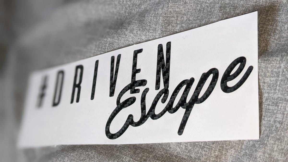 Image of Carbon Fiber Signature Sticker