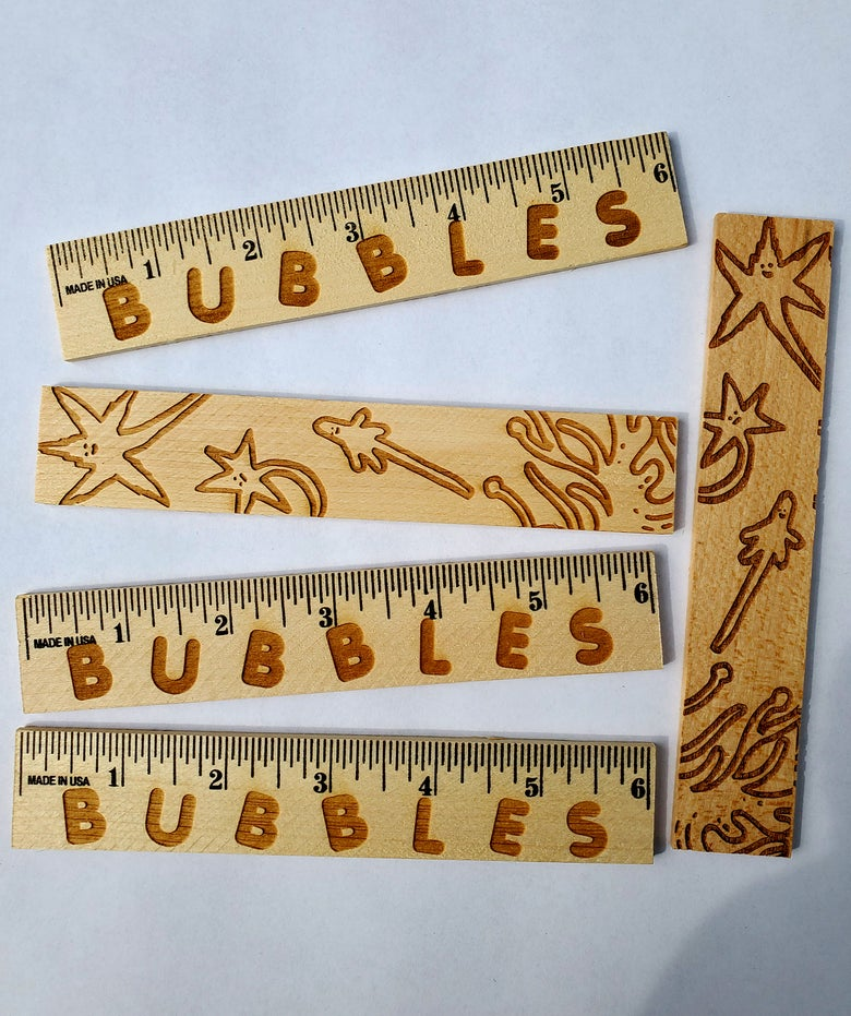 Image of Bubbles 6inch Wooden Ruler