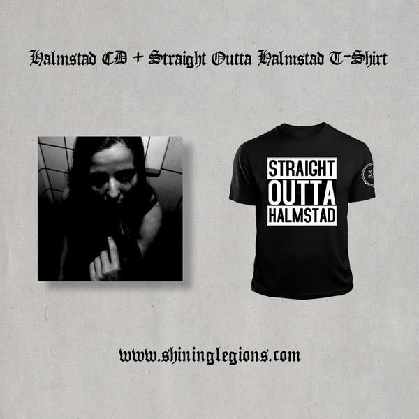 "Image of PRE-ORDER Shining ""Straight Outta Halmstad"" T-shirt + CD Bundle"