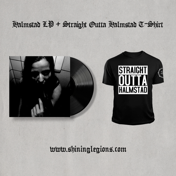 "Image of PRE-ORDER Shining ""Straight Outta Halmstad"" T-shirt + LP Bundles"