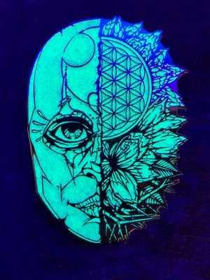 Image of White Glow Mask of Life x Cody Isbill