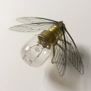 Save the Bees - Steampunk brooch - Small Brass Bee Lightbulb Pin