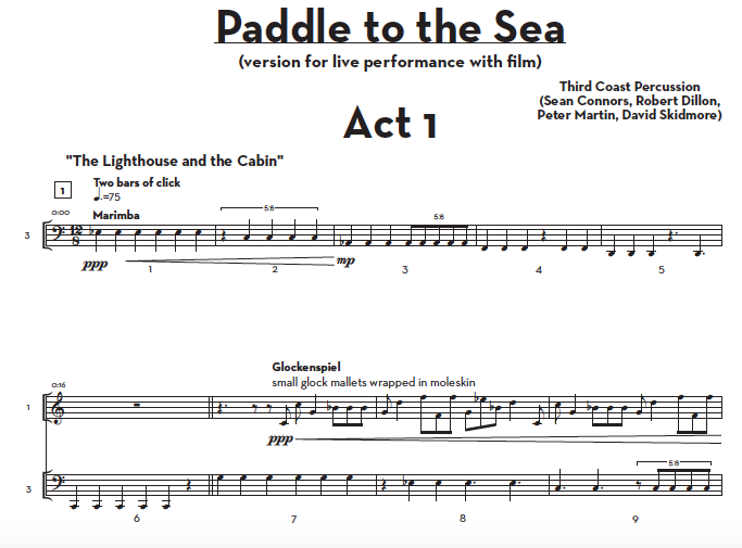 Image of Paddle to the Sea — Score and Parts