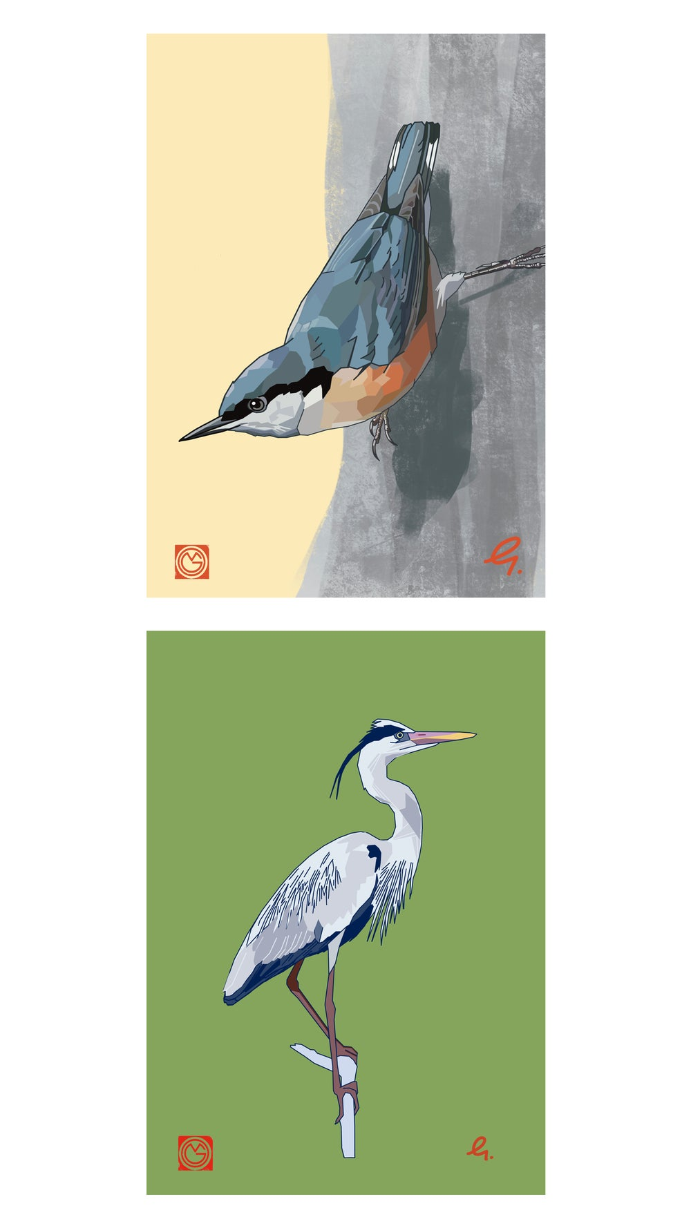 British Bird postcard set