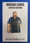 ADRIAN LEWIS LIMITED EDITION PIN BADGE