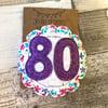 80th Birthday Rosette Brooch