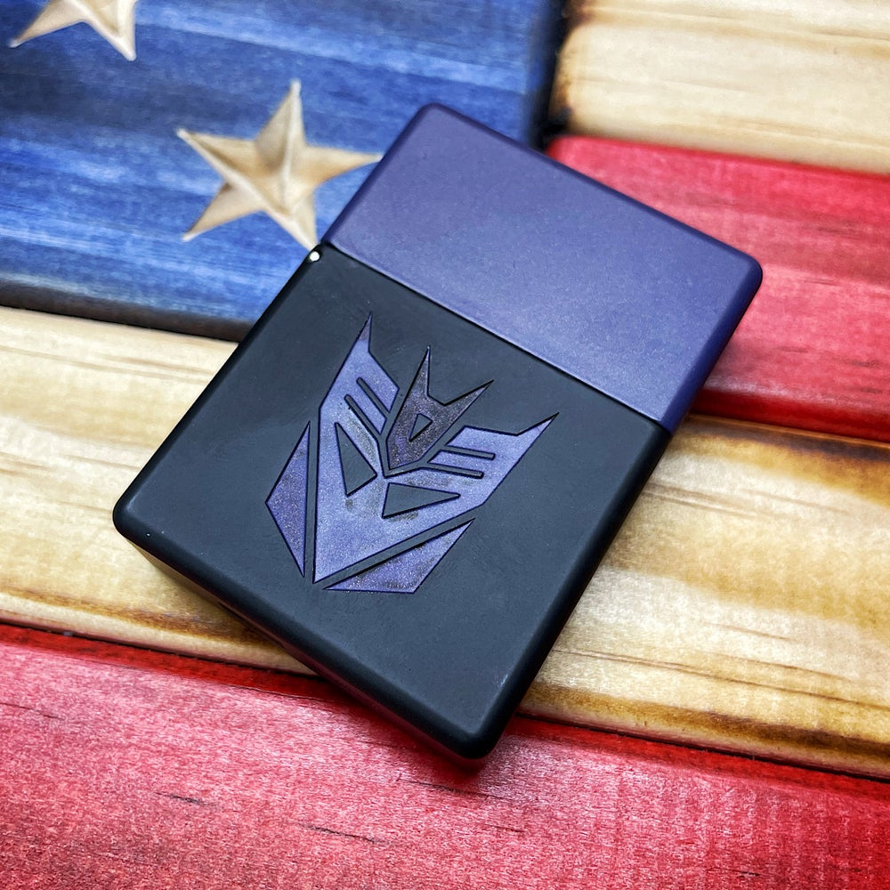 Image of Blackside Customs Decepticons Zippo