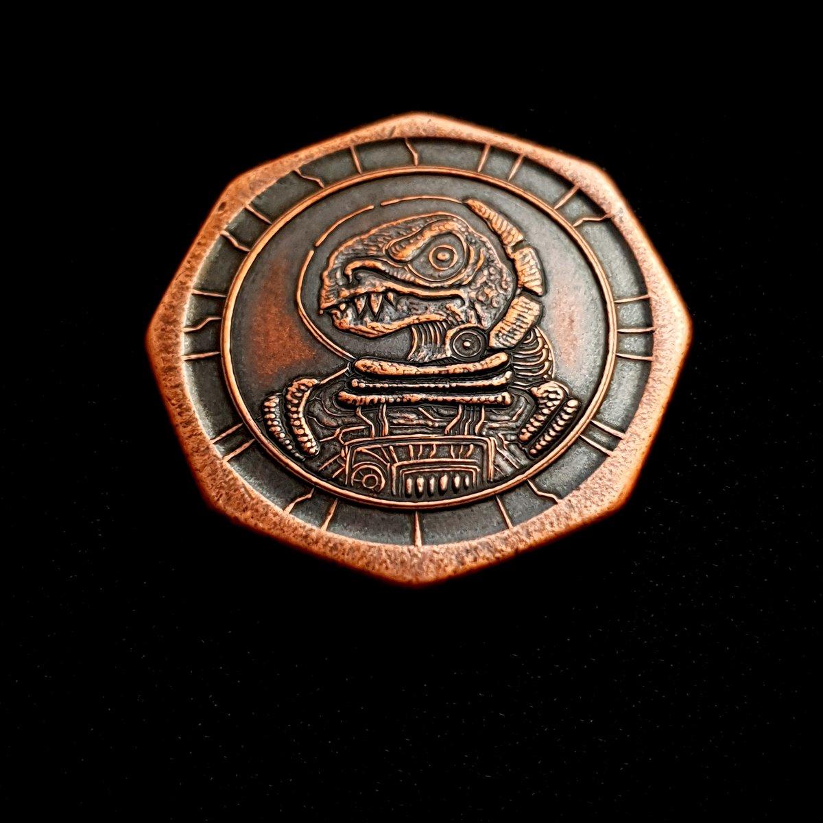 Dinosaucer Octagon Coin