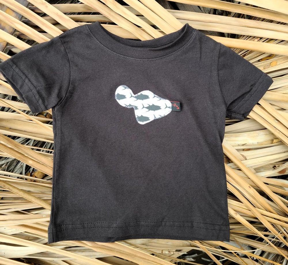 Image of White and Black Fish Maui Tee