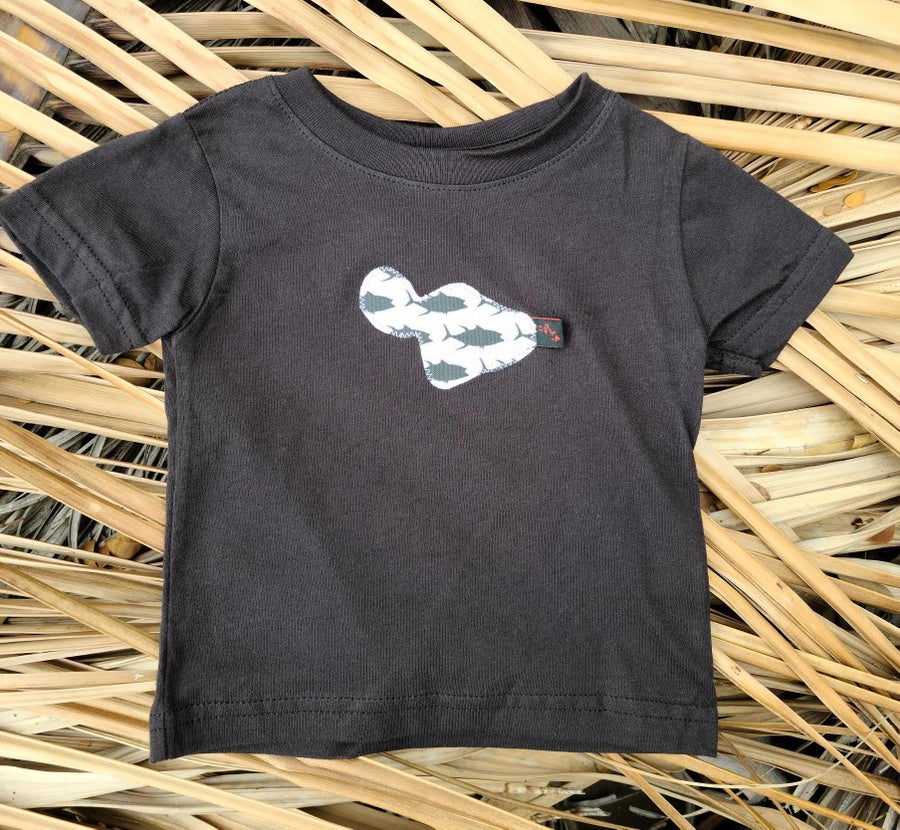 Image of White and Black Fish Maui Tee