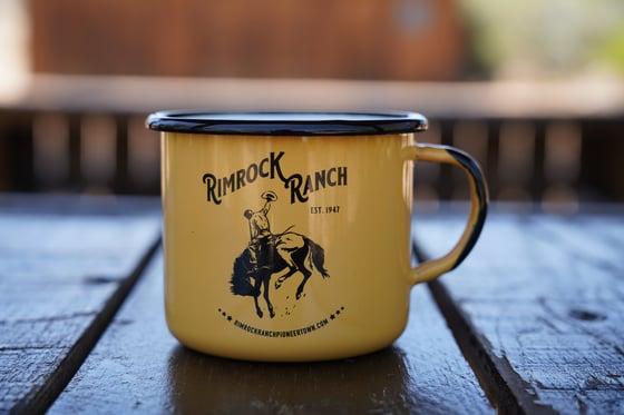 Image of Enameled Camp Mug - Yellow