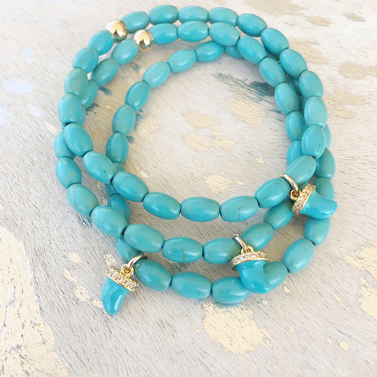 TenThings. SEA LANE. Turquoise. Horn. Bracelet. B-SL