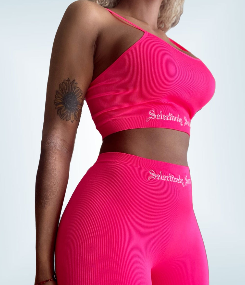 Selectively Social Embroidered Two Piece Set