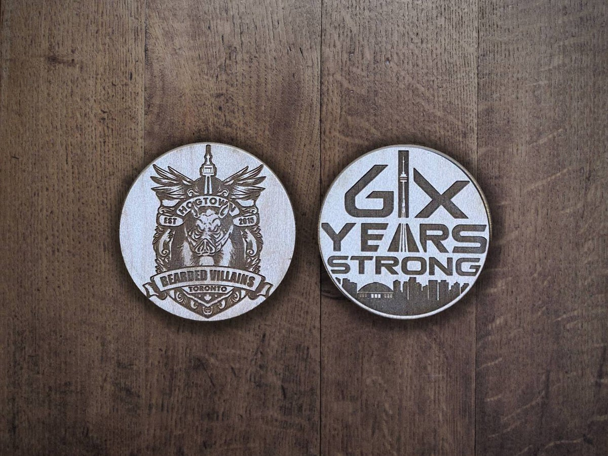 BVTO - 6 Year Strong - Wood Coin