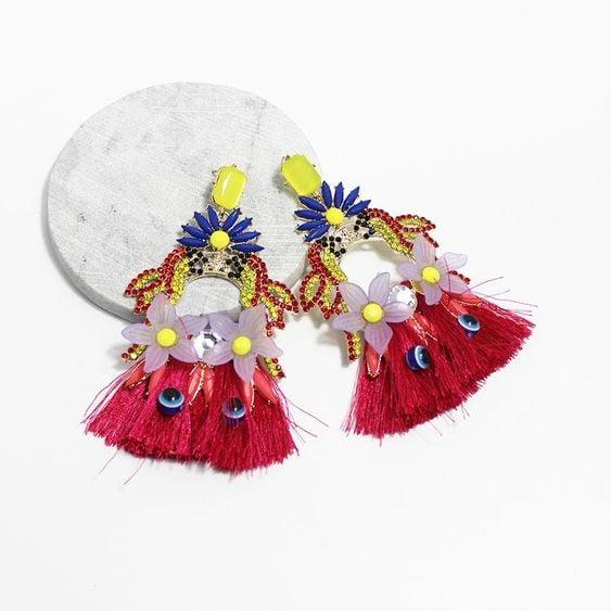 Image of Porcelain Flower Earring
