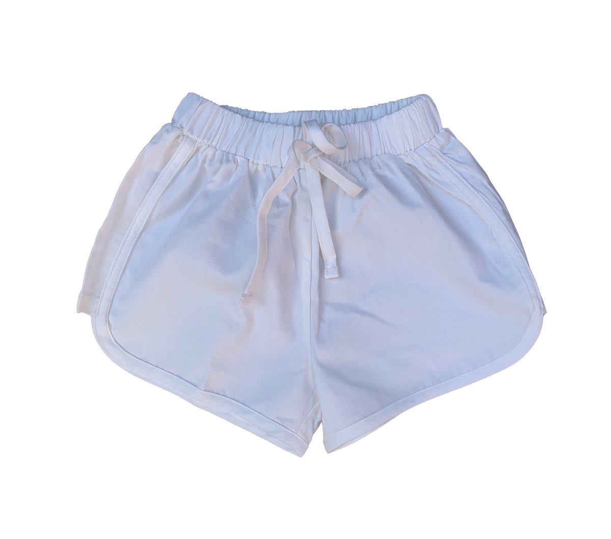 Image of Cotton runner shorts - White