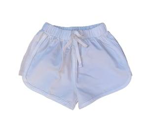 Image of Cotton runner shorts - White