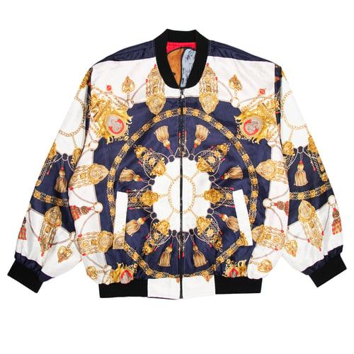 Image of Vintage Picasso Satin Reversible Jacket (M)