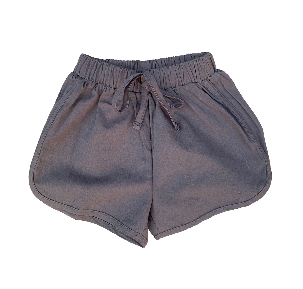 Image of Cotton runner shorts - grey