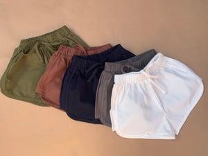Image of Cotton runner shorts - Navy