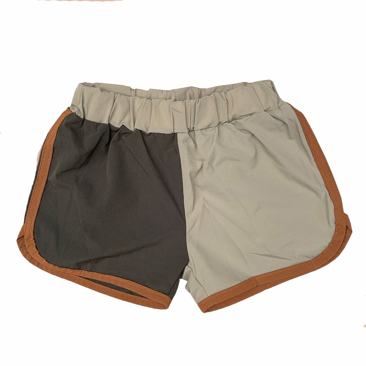 Image of split coloured shorts