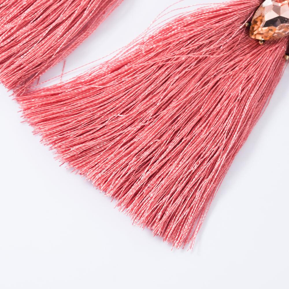 Image of Diamond Studded Long Tassel