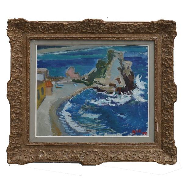 Image of 1947, Swedish seascape oil painting Kjell Leander-Engstrom  (1914 -1979)