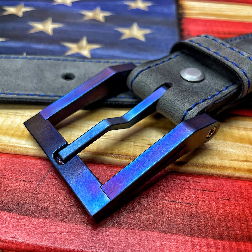 Image of Blackside Customs Flamed Titanium Modular Buckle
