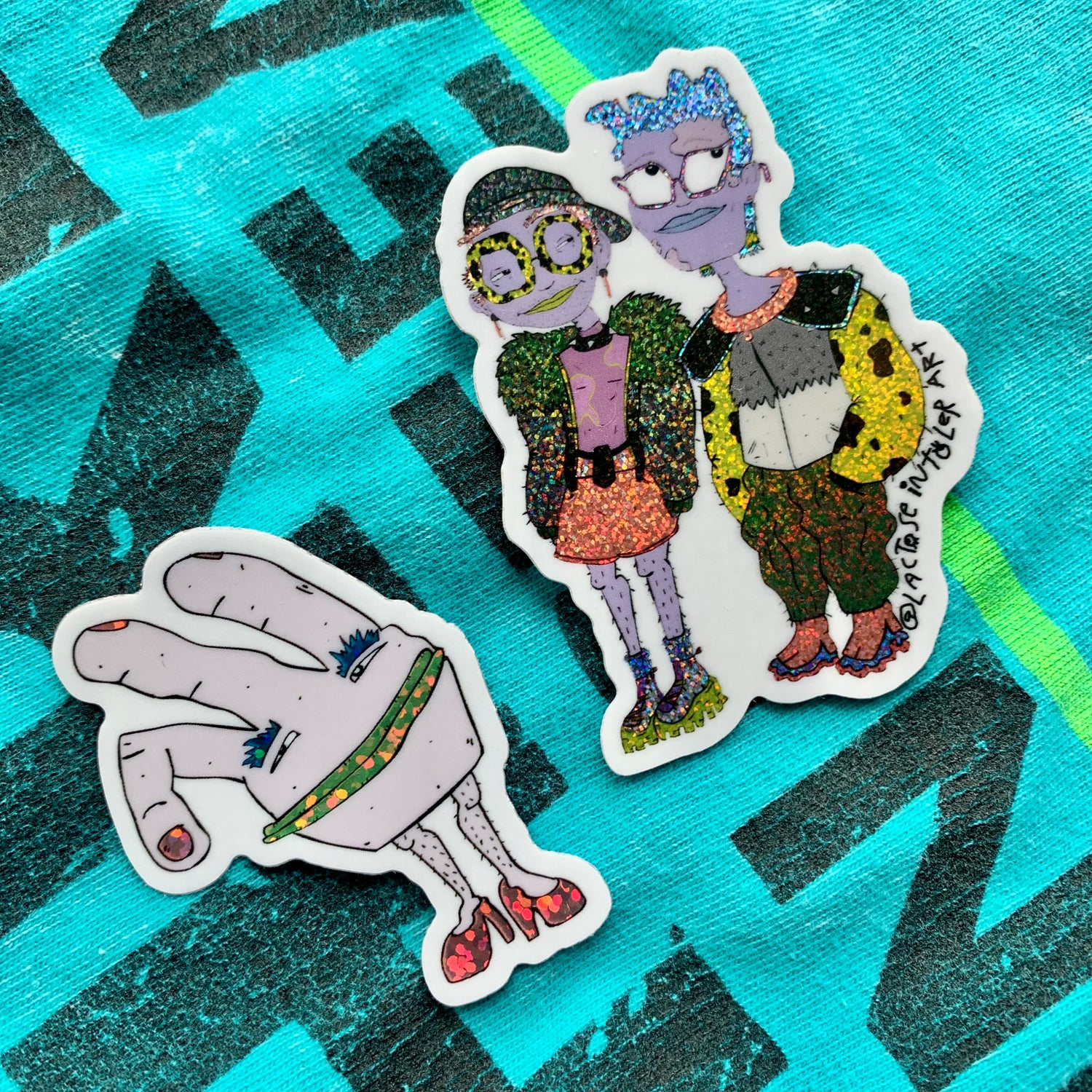 Image of ✨ Lactose Glitter Stickers - (Pack of 2)