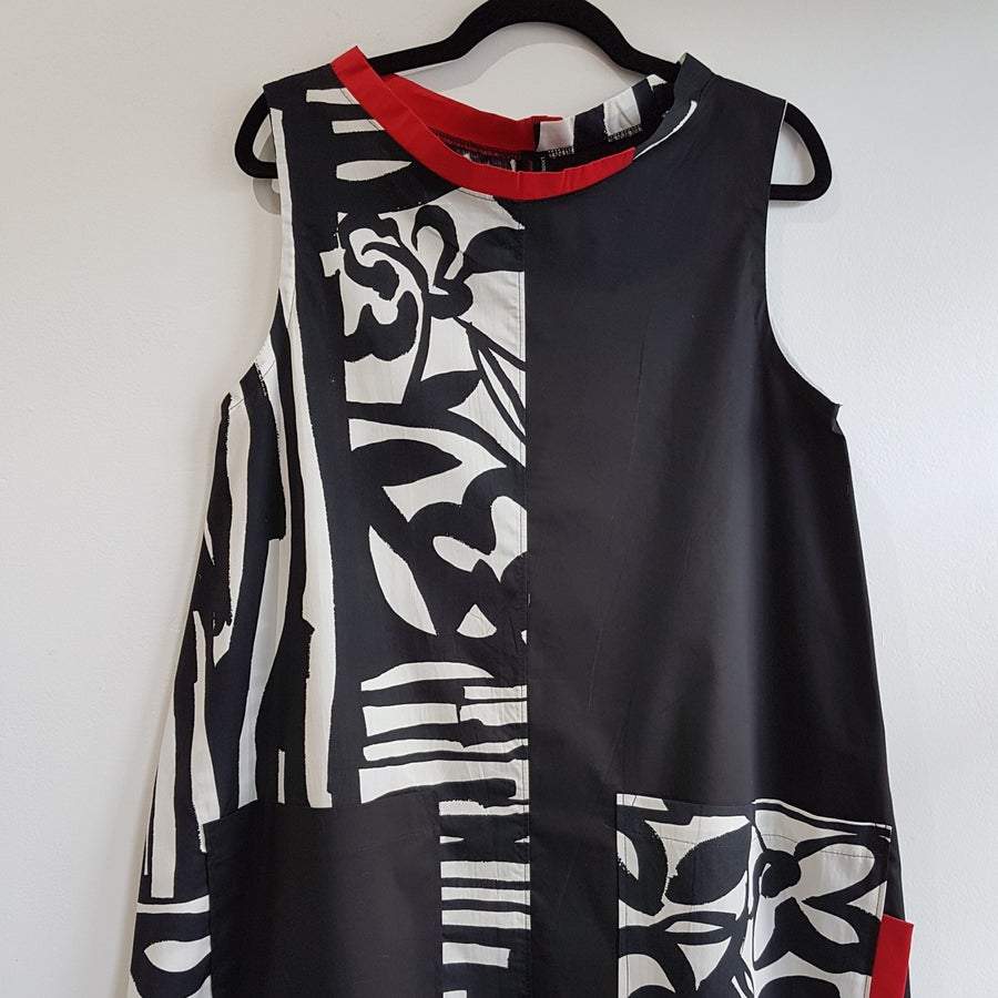 Image of fabric collage tunic
