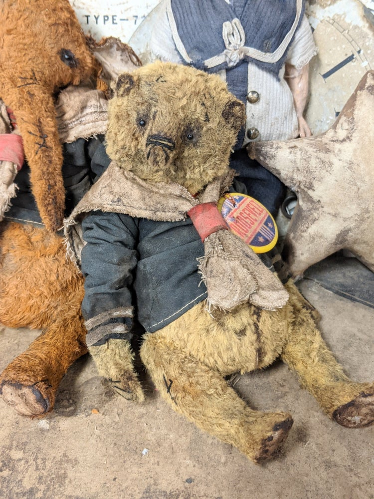 """Image of 7"""" - ROOSEVELT Old Fat Worn Sailor Teddy Bear in sailor outfit  by Whendi's Bears"""
