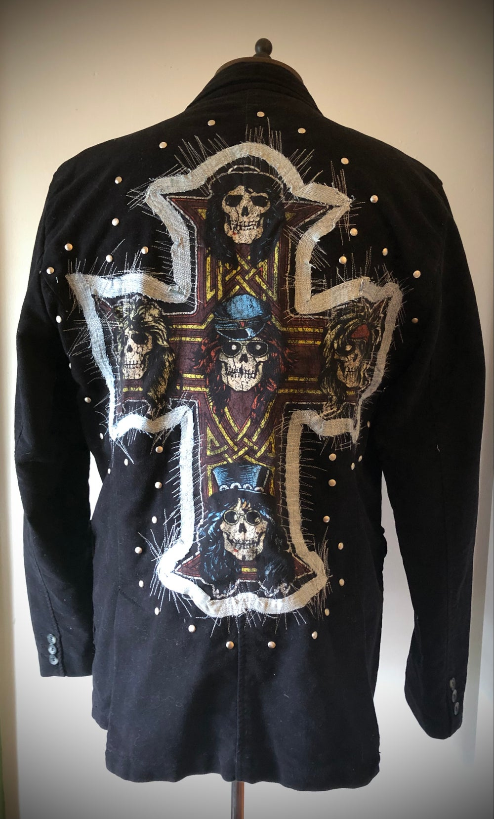 Guns N' Roses upcycled suit jacket