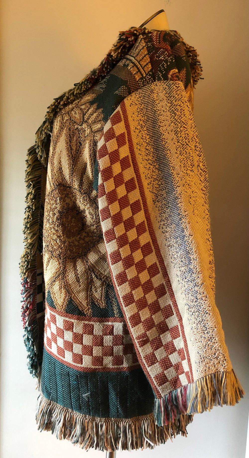Sunflower/Apple picking fringe tapestry jacket