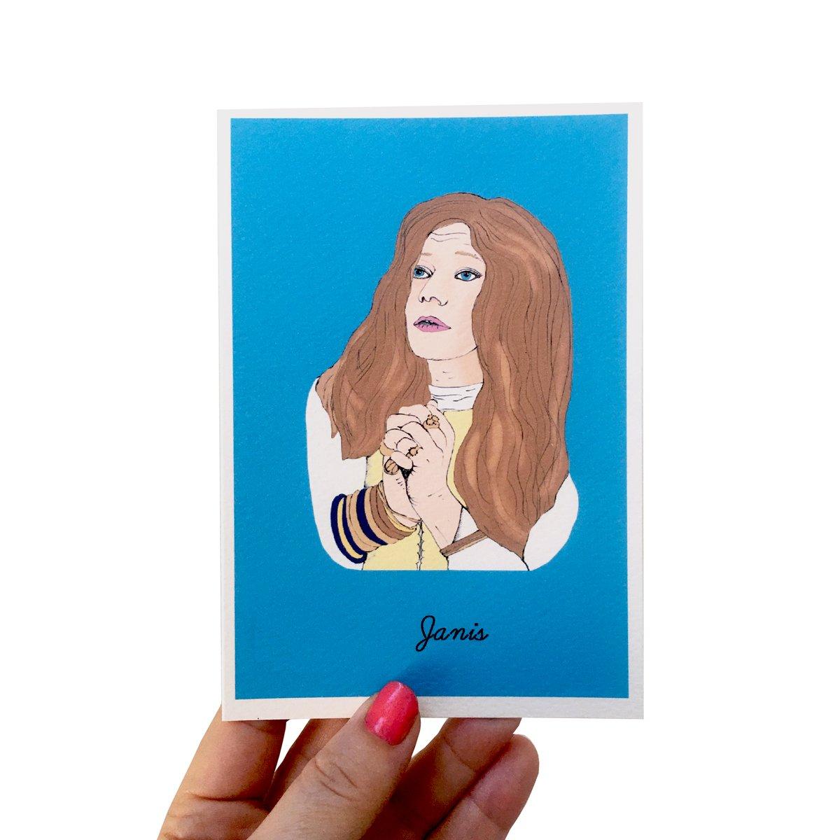 Janis Joplin Iconic Figures Card