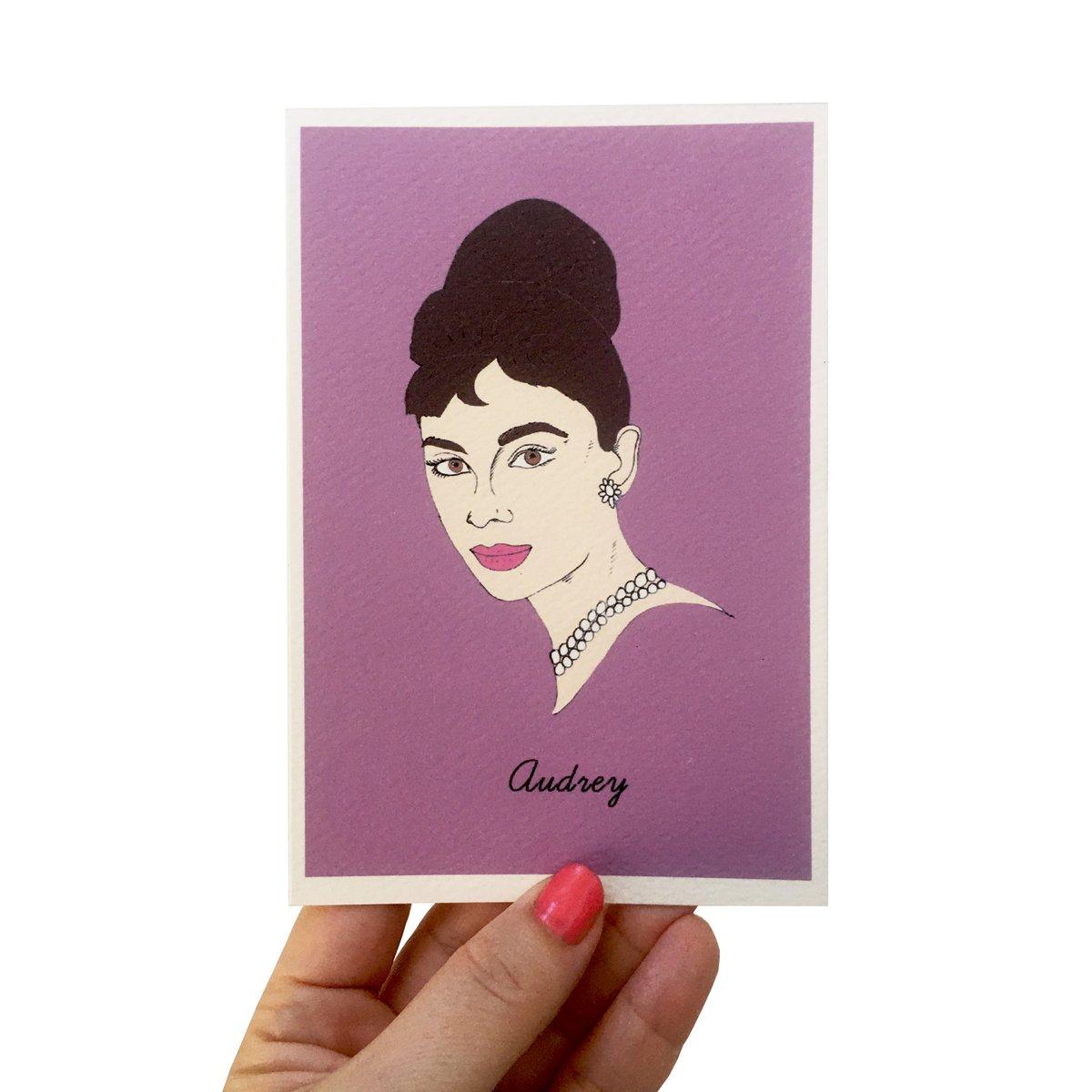 Audrey Hepburn Iconic Figures Card