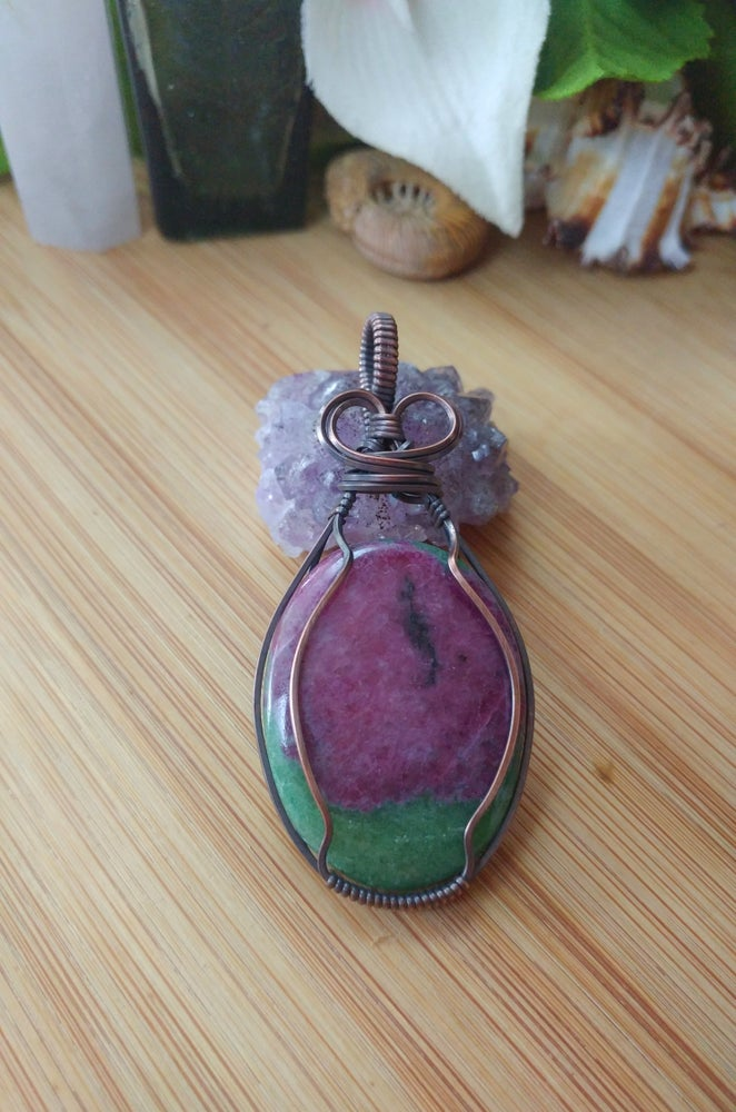 Image of Ruby Zoisite Pendant