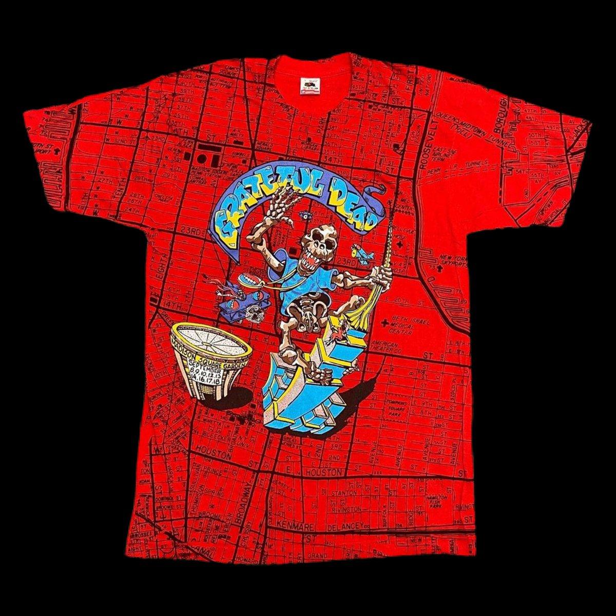 Original RARE Vintage Grateful Dead MSG New York 1991 All Over Print!! - Large