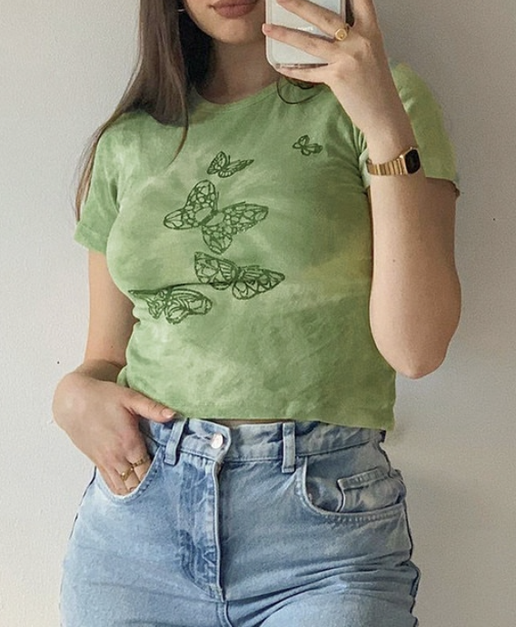 Image of Brielle Butterfly Crop Top