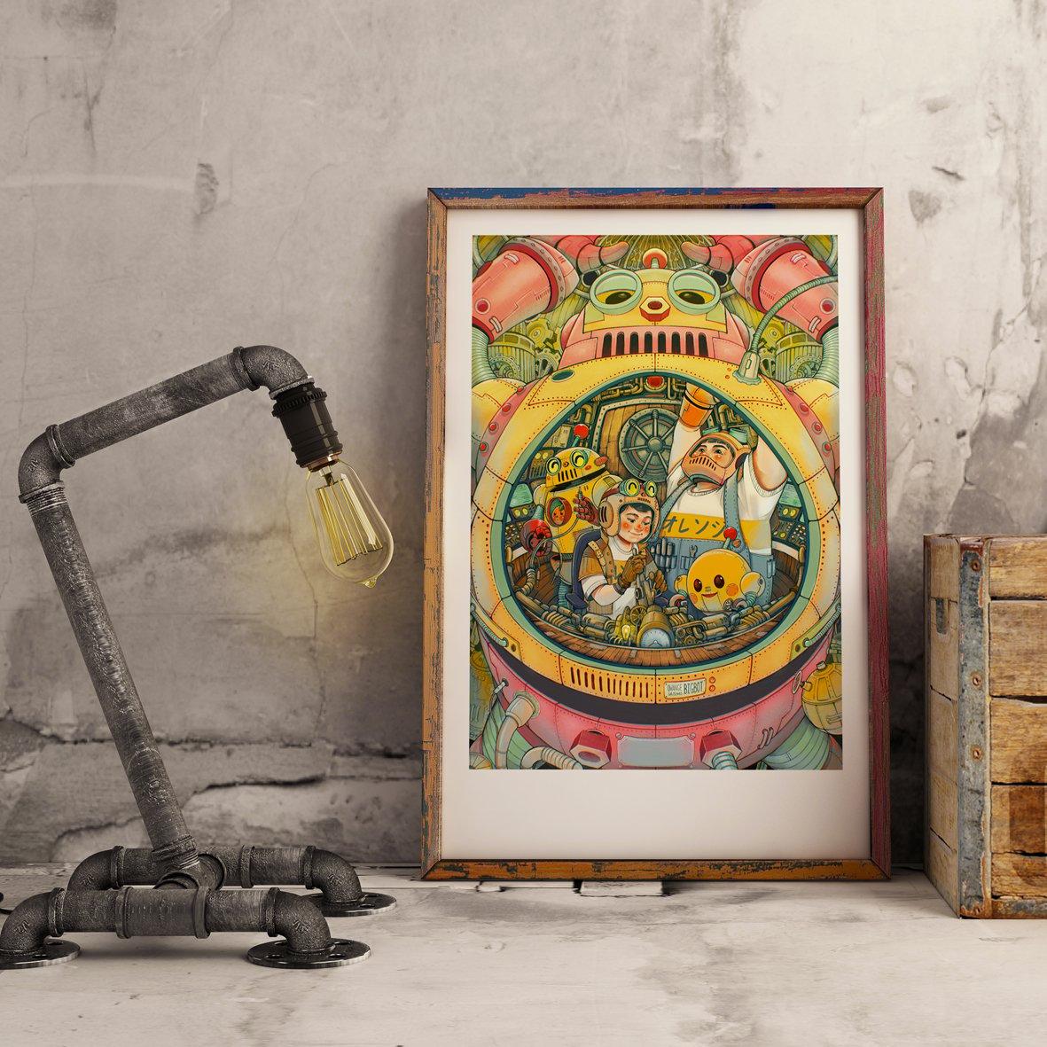 Image of Owange team art print collaboration with Garisinau