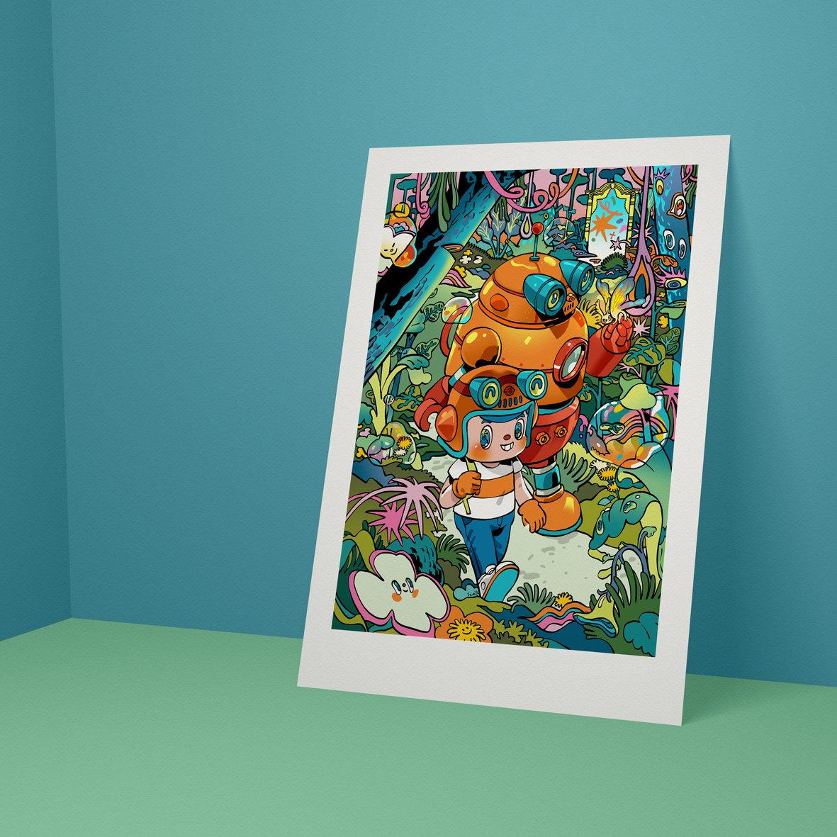 Image of Owange team art print collaboration with Isa indra permana