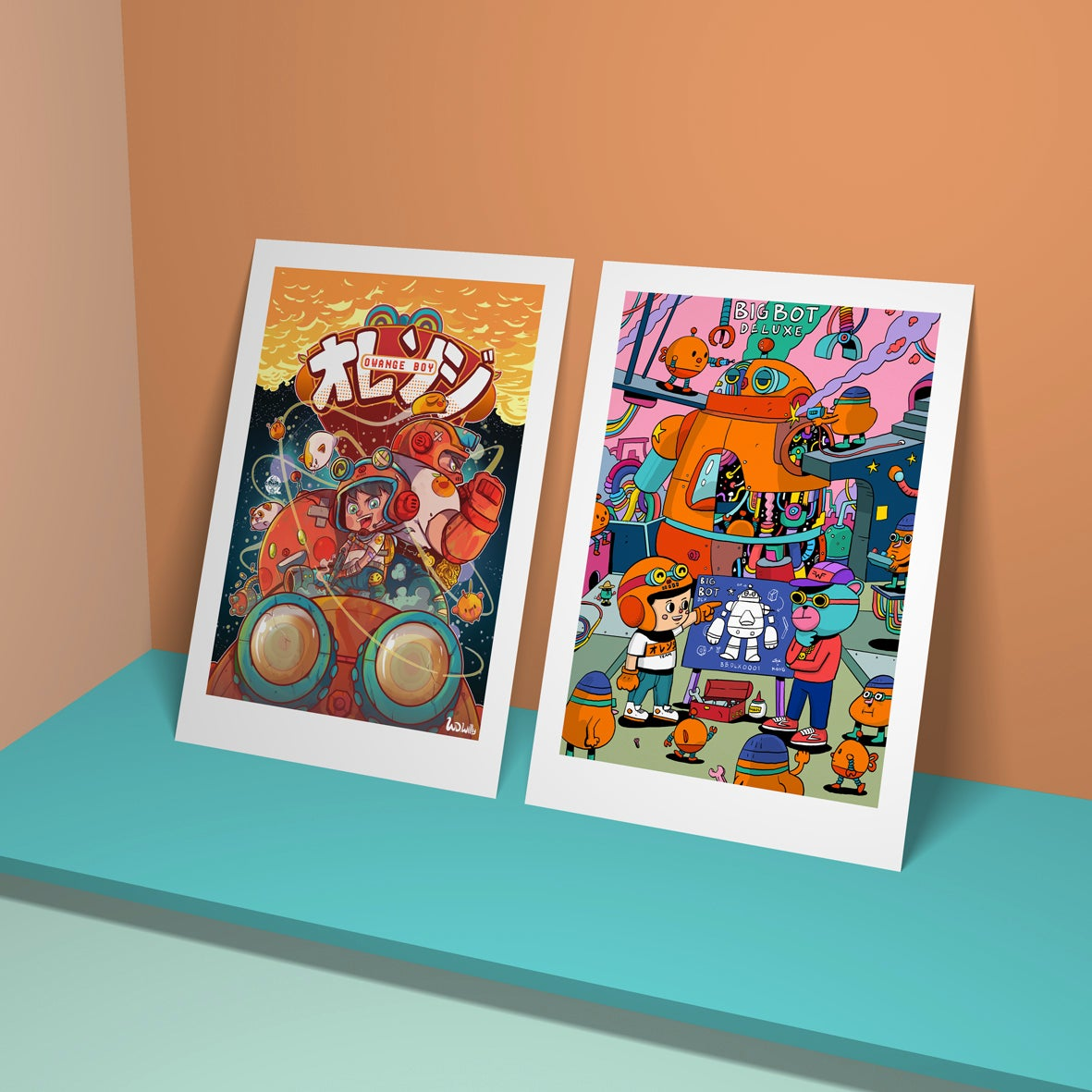 Image of Owange team art print collaboration with Wede Willy
