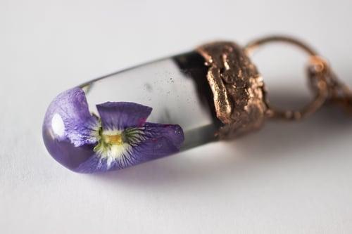 Image of Violet (Viola sororia) - Small Electroform Copper #1
